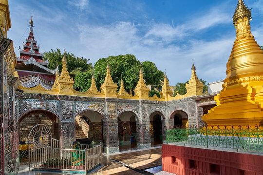 Stupas at Mandalay Hill, Myanmar (Burma)