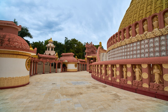 Thidagu World Buddhist University in Sagain. Myanmar (Burma)