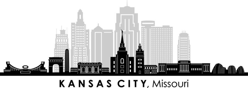 KANSAS CITY Missouri USA City Skyline Vector