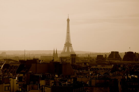 Eiffel Tour ,  From The Rooftop Of Beaubourg Museum