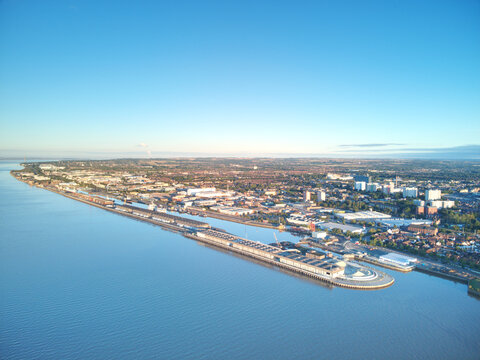 Drone Aerial Photo Of Kingston-upon-hull, Uk