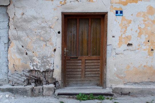 Door and War. Jajce, Bosnia ad Herzegovina