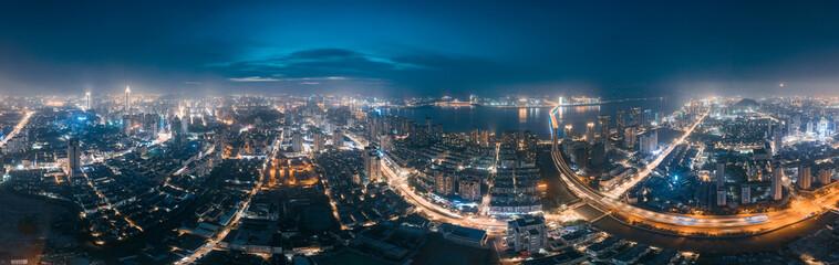 Night view of Wenzhou City, Zhejiang Province, China