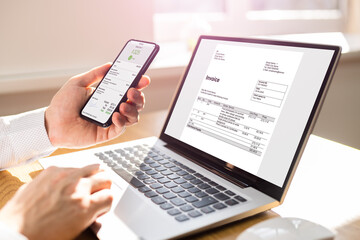 Digital Invoice Document Or Payment Receipt