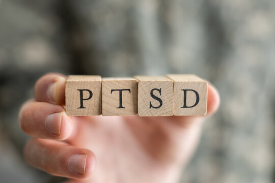 PTSD Military Army Soldier With Trauma