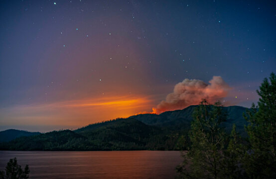 Active Zogg Fire Burning South Of Whiskeytown Lake In Northern California