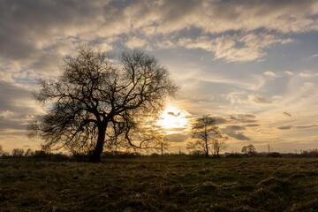 Zachód słońca nad jeziorem Szałe, Pierwszy dzień wiosny, 20.03.21