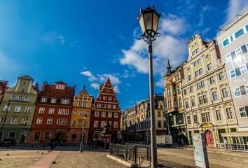 Rynek Solny we Wrocławiu latarnia