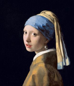 Johannes Vermeer, Girl with a Pearl Earring, 1665, oil on canvas. Mauritshuis, The Hague, Netherlands.