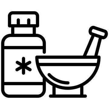Premium download icon of pestle mortar