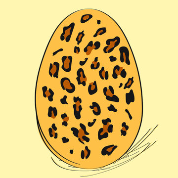 Vector Of The Easter Eggs with Leopard Pattern