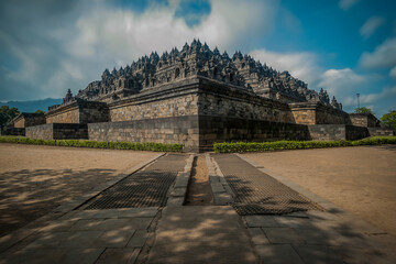 Borobudur Temple Is A Tourist Destination In Asia, In The Country Of Indonesia Wall mural