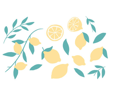 レモンのイラスト Lemon illustration