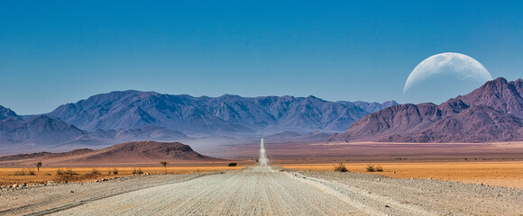 Amazing road and mountains in africa Fototapete