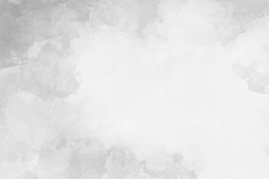 white watercolor background with abstract texture grunge border with soft pastel cloudy gray neutral color