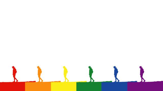 hike LGBT flag colors