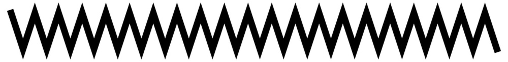 Wavy, waving  lines. Zig-zag, criss-cross lines vector illustration. Undulate, billowy effect lines Wall mural
