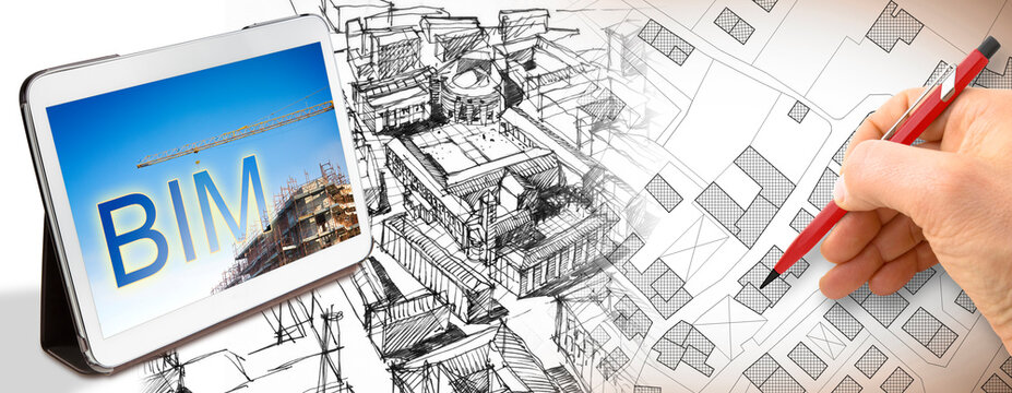 Planning a new city with BIM, Building Information Modeling system, a new way of architecture designing