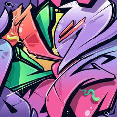 Wild Style Graffiti Seamless Pattern