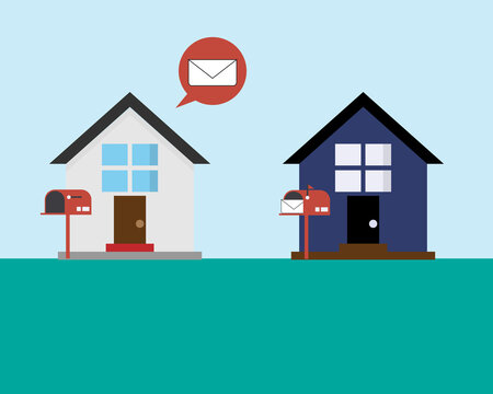 bad communication by sending letter to wrong address vector