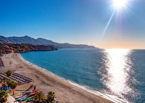 Nerja Beach, Costa Del Sol, Malaga Province, Andalusia, Spain