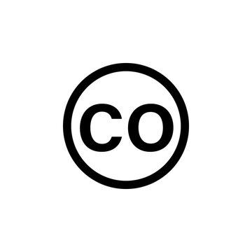 Carbon monoxide detector sign. Clipart image