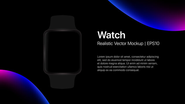Apple Watch Presentation Slide Template. Vector illustration