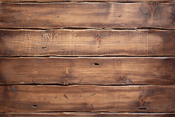 Obraz Wooden table top background or wall texture.  Brown wood board tabletop - fototapety do salonu