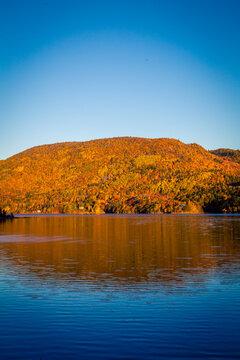 lake in the fall in Cape Breton
