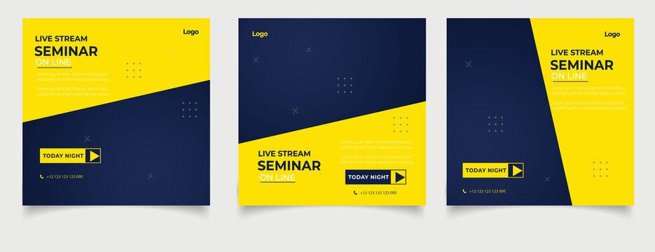 Seminar webinar  social media post