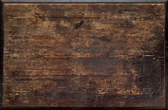 Old weathered wooden tabletop surface