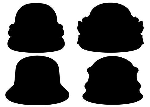 Beautiful womens hats in a set.