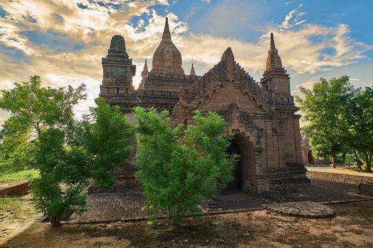 Stone temple at Old Bagan, Myanmar(Burma)