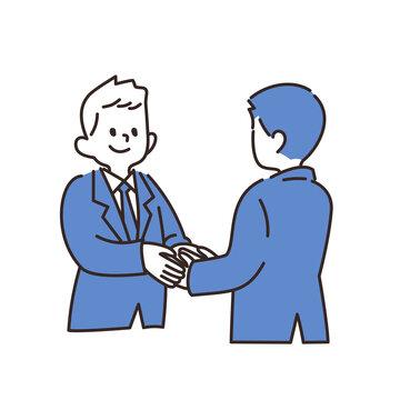 サラリーマン 握手