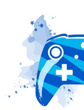 gamepad xbox one blue