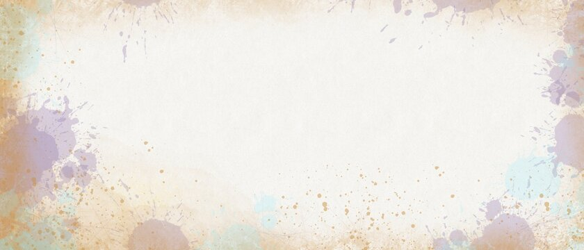 abstract wallpaper with colored bubbles and watercolor spots, screen saver, colorful banner