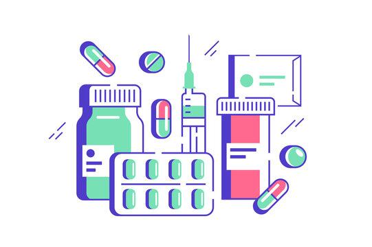 Set of medicines
