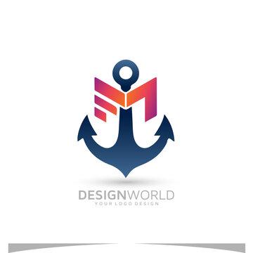 Letter FM Marin vector logo design idea.