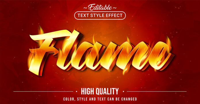 Editable text style effect - Flame text style theme.