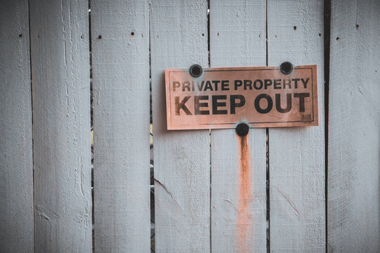 Rusted Keep Out Sign