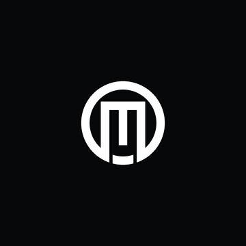 MO or OM abstract branding illustration logo design