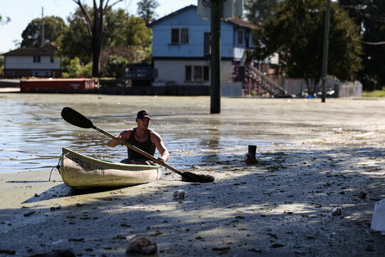 Severe flooding affects the suburb of Windsor in western Sydney