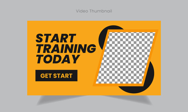 Youtube Play Button Youtube Thumbnail Template 13