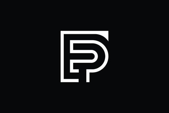 EP logo letter design on luxury background. PE logo monogram initials letter concept. EP icon logo design. PE elegant and Professional letter icon design on black background. E P PE EP