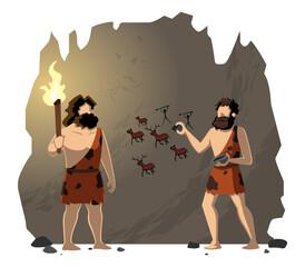 Fototapeta Cavemen Drawing Cave Painting