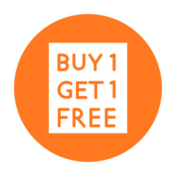 Buy one get one free Vector icon which can easily modify or edit
