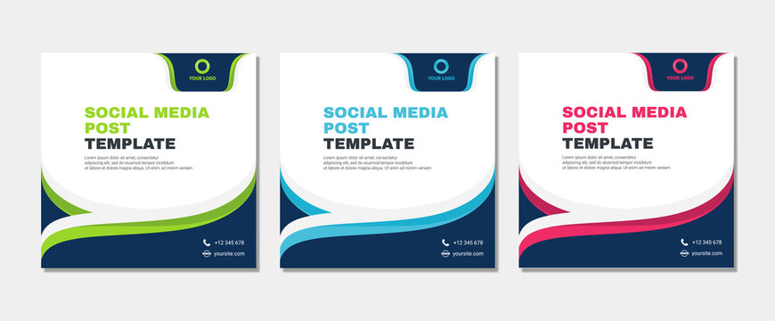 Set of modern abstract Unique Editable Social Media banner Template.Promotional web banner for social media post.Elegant sale ads and discount promo