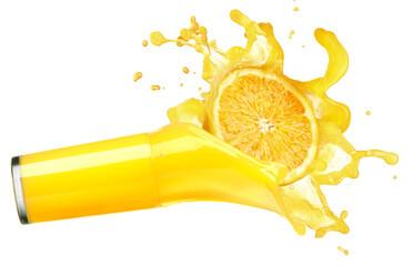 Wall Murals Juice orange juice splash isolated