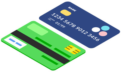 Wall Mural - Devices for contactless payment online. Credit and debit cards with code and security symbols