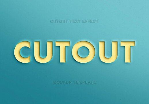 Paper Cutout Text Effect Mockup